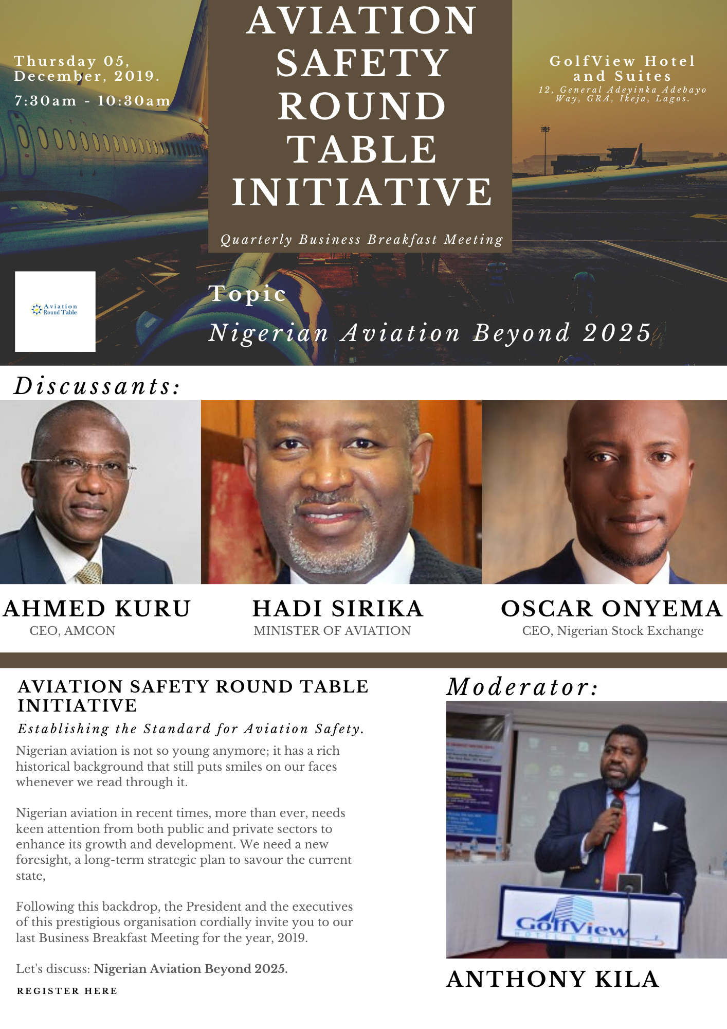 Business Breakfast Meeting (Dec. 2019): Meet Our Discussants